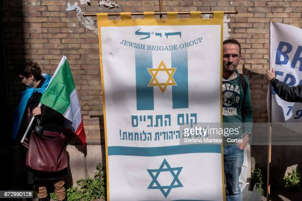 Event in Rome to celebrate the Jewish Brigade Group on the occasion of the April 25 the 72nd anniversary of the liberation of Rome of the Nazifascism...