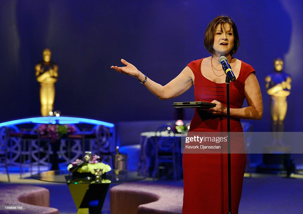 Event producer Cheryl Cecchetto speaks during a preview of the 85th Academy Awards Governors Ball on January 22, 2013 in Hollywood, California. Academy governor Jeffrey Kurland, Cecchetto and Master Chef Wolfgang Puck will return to create this year's Governors Ball, the Academy's official post-Oscar celebration, which will immediately follow the 85th Academy Awards ceremony on Sunday, February 24. The 1,500 guests include Academy Award winners and nominees, show presenters and other telecast participants.