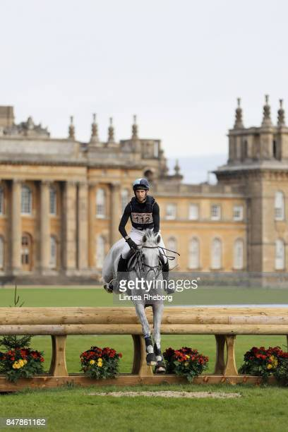 Event rider Arthur Duffort of France riding Cemie in the cross country discipline of day three of Blenheim Palace International Horse Trials on...