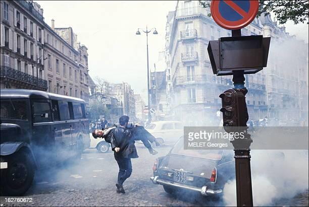 May 3Rd 3 mai 1968 Après la prise de la Sorbonne par la police c'est la première émeute à l'angle de la rue SaintJacques et du boulevard SaintGermain...