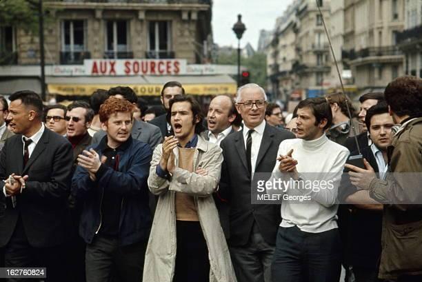May 13Th 13 mai 1968 Manifestation géante entre République et DenfertRochereau réunissant ouvriers étudiants universitaires Les leaders de la...