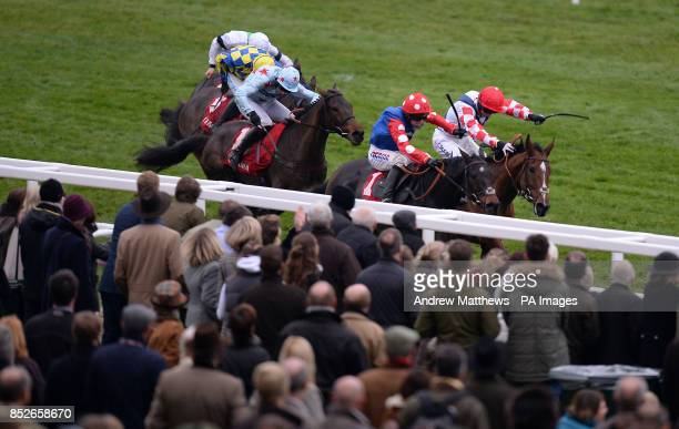 Eventual winner Return Spring ridden by jockey James Best comes up the final 1/2 furlong to go on and win the Ultima Business Solutions Handicap...