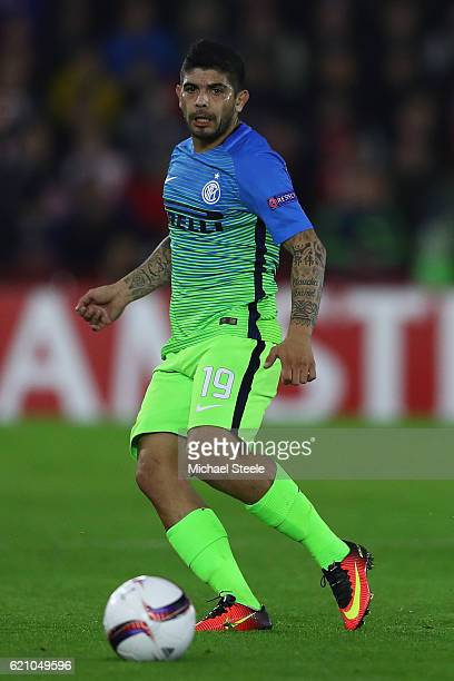 Ever Banega of Inter during the UEFA Europa League match between Southampton FC and FC Internazionale Milano at St Mary's Stadium on November 3 2016...
