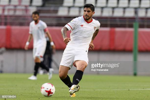Ever Banega of Sevilla in action during the preseason friendly match between Kashima Antlers and Sevilla FC at Kashima Soccer Stadium on July 22 2017...