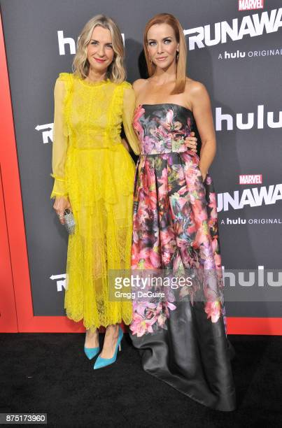 Ever Carradine and Annie Wersching arrive at the premiere of Hulu's 'Marvel's Runaways' at Regency Bruin Theatre on November 16 2017 in Los Angeles...