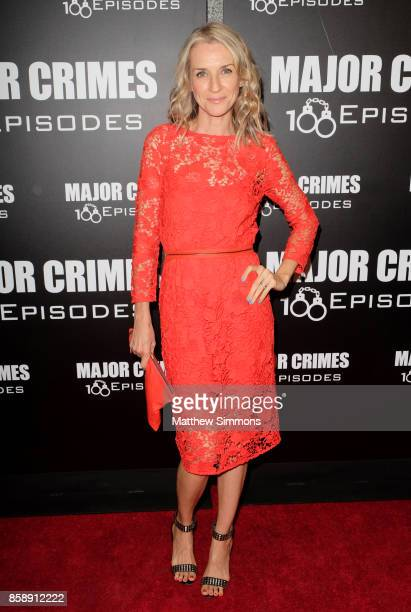 Ever Carradine at TNT's 'Major Crimes' 100th episode celebration at 71Above on October 7 2017 in Los Angeles California