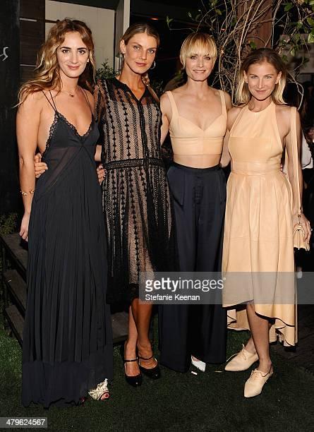 Ever Manifesto founder Alexia Niedzielski model Angela Lindvall actress Amber Valletta and Ever Manifesto founder Elizabeth von Guttman attend HM...