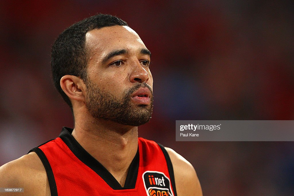 Everard Bartlett of the Wildcats looks on during the round 23 NBL match between the Perth Wildcats and the Cairns Taipans at Perth Arena on March 17, 2013 in Perth, Australia.