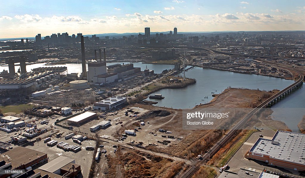 Everett Mayor Carlo DeMaria, Jr. and Steve Wynn, CEO of Wynn Resorts, have proposed a casino site at the former Monsanto Chemical Plant, seen here in an aerial view. It's on the river, behind (just east of) the Gateway Shopping Plaza.