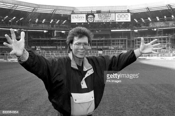 Evergreen pop star Cliff Richard at Wembley Stadium where on the 16th June 1989 he celebrated 30 years of stardom with a special concert billed as...
