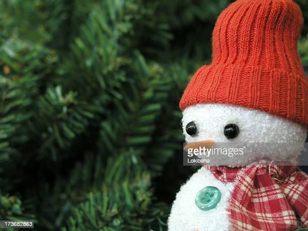 Evergreen snowman