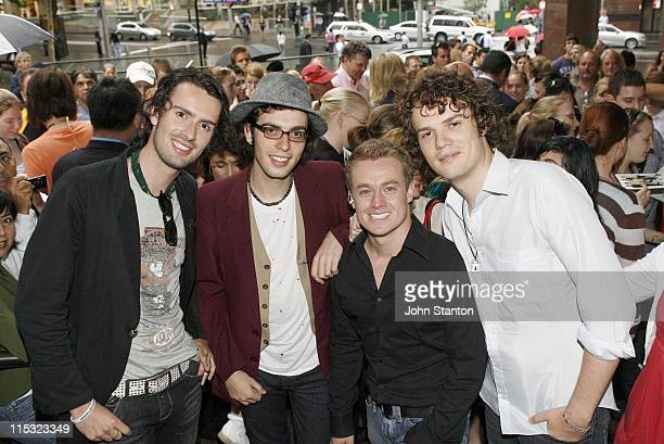 Evermore with Grant Denyer during Evermore Perform on Channel 7's 'Sunrise' December 15 2006 at Channel 7 Studios in Sydney NSW Australia