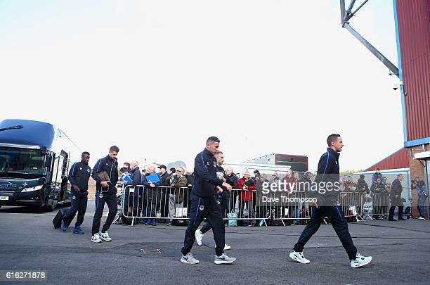 Everton arrive at the stadiium prior to kick off during the Premier League match between Burnley and Everton at Turf Moor on October 22 2016 in...