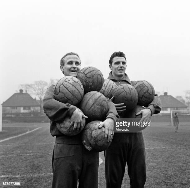 Everton at a special training for their third cup tie with Sheffield Wednesday at their training ground in West Derby Liverpool Pictured Alex Young...