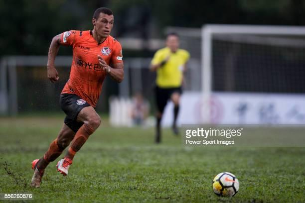 Everton Camargo of Sun Bus Yeun Long in action during the Hong Kong Premier League Week 4 match between BC Rangers vs Sun Bus Yuen Long at the Sham...