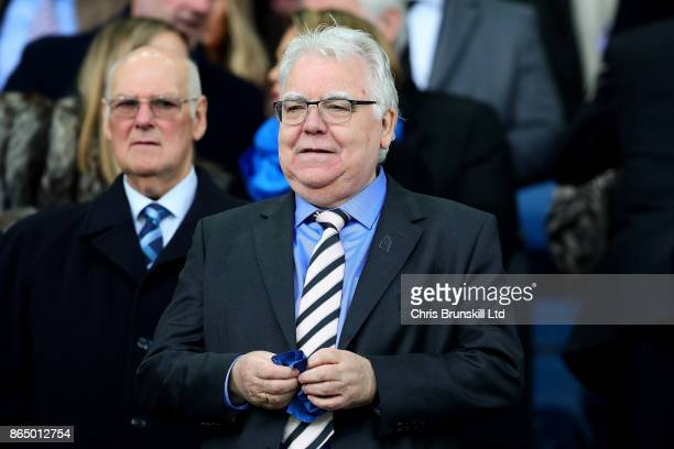 Everton chairman Bill Kenwright looks on during the Premier League match between Everton and Arsenal at Goodison Park on October 22 2017 in Liverpool...