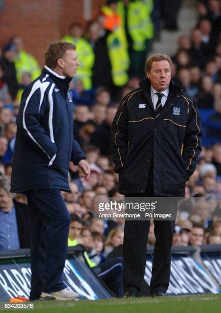 Everton manager David Moyes and Portsmouth manager Harry Redknapp