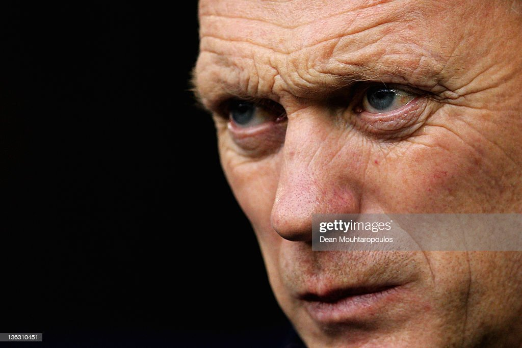 Everton Manager, <a gi-track='captionPersonalityLinkClicked' href=/galleries/search?phrase=David+Moyes&family=editorial&specificpeople=215482 ng-click='$event.stopPropagation()'>David Moyes</a> looks on during the Barclays Premier League match between West Bromwich Albion and Everton at The Hawthorns on January 1, 2012 in West Bromwich, England.