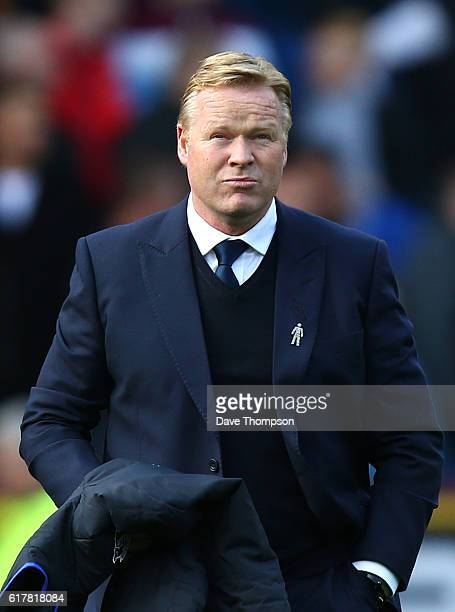 Everton manager Ronald Koeman during the Premier League match between Burnley and Everton at Turf Moor on October 22 2016 in Burnley England