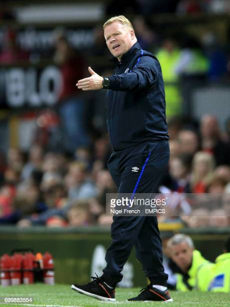 Everton manager Ronald Koeman gestures on the touchline