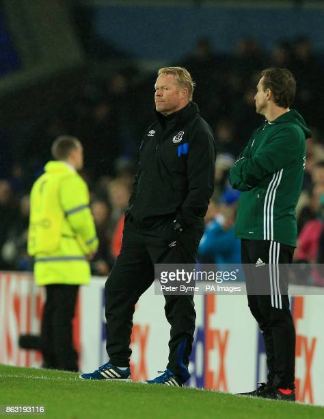 Everton manager Ronald Koeman on the touchline during the UEFA Europa League Group E match at Goodison Park Liverpool PRESS ASSOCIATION Photo Picture...