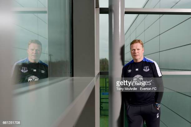 Everton manager Ronald Koeman poses for a portrait at USM Finch Farm on March 29 2017 in Halewood England