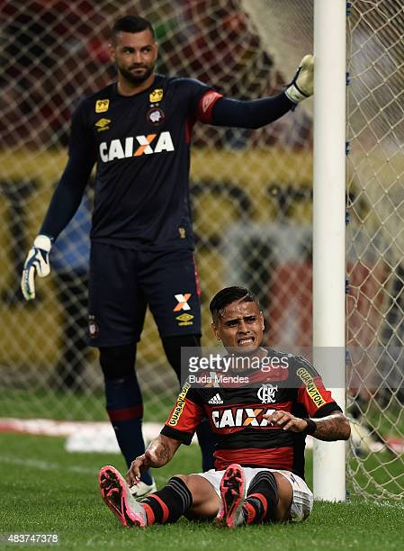 Everton of Flamengo laments lost a goal during a match between Flamengo and Atletico Paranaense as part of Brasileirao Series A 2015 at Maracana...