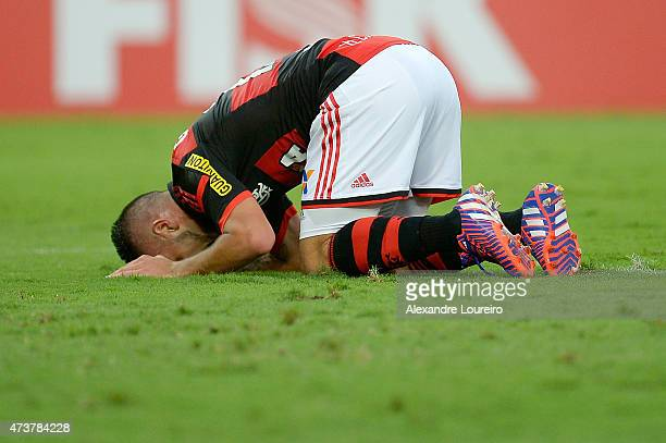 Everton of Flamengo reacts during the match between Flamengo and Sport Recife as part of Brasileirao Series A 2015 at Maracana stadium on May 17 2015...