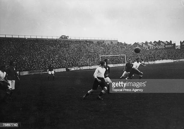 Everton play Tottenham Hotspur at Spurs' White Hart Lane ground London 2nd September 1912