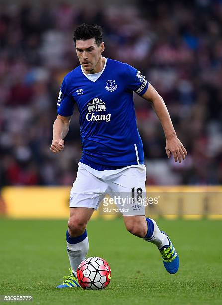 Everton player Gareth Barry in action during the Barclays Premier League match between Sunderland and Everton at the Stadium of Light on May 11 2016...