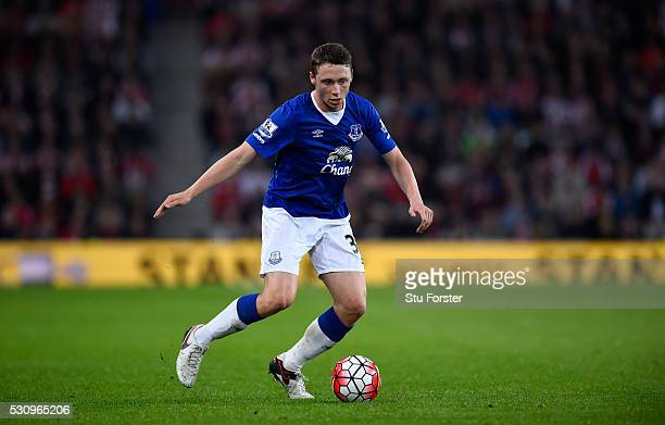 Everton player Matthew Pennington in action during the Barclays Premier League match between Sunderland and Everton at the Stadium of Light on May 11...