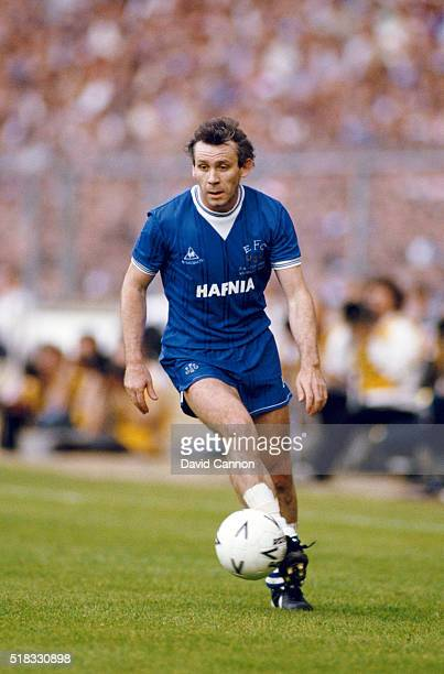 Everton player Peter Reid in action during the 1985 FA Cup Final between Everton and Manchester United at Wembley stadium on May 18 1985 in London...