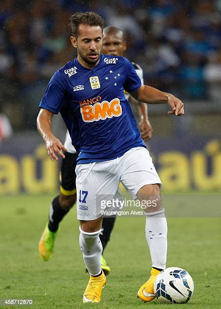 Everton Ribeiro of Cruzeiro in action during a match between Cruzeiro and Criciuma as part of Brasileirao Series A 2014 at Mineirao Stadium on...