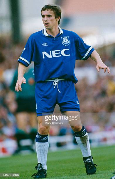 Everton right back Paul Holmes during an English Premier League match against Arsenal at Highbury London 28th August 1993 Arsenal won the match 20...