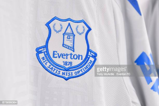 Everton shirts hang in the away dressing room ahead of the Premier League match between Crystal Palace and Everton at the Selhurst Park on November...