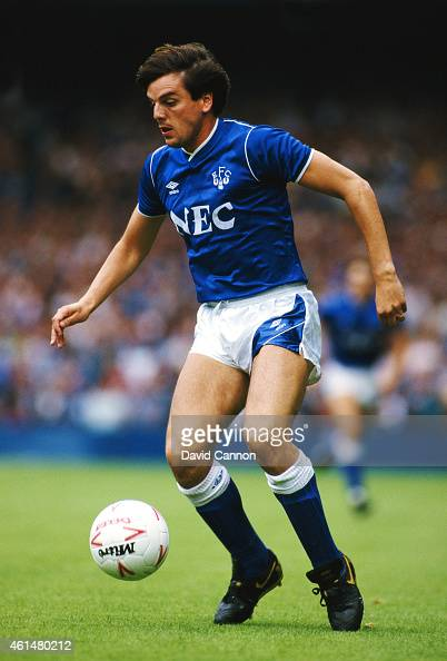 Everton striker Graeme Sharp in action during a First Division match between Everton and Sheffield Wednesday at Goodison Park on August 29 1987 in...