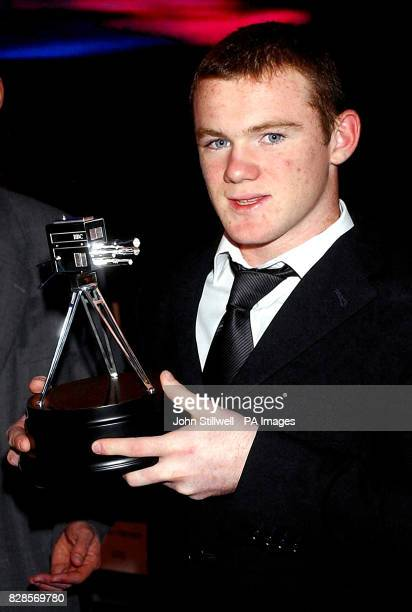 Everton striker Wayne Rooney winner of the Young Sportsman of the Year Award at the BBC TV Centre in Wood Lane west London Wayne Rooney who has been...