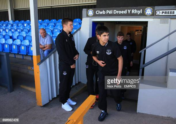 Everton U21 Liam Walsh arrive at Rhyl's Belle Vue Ground