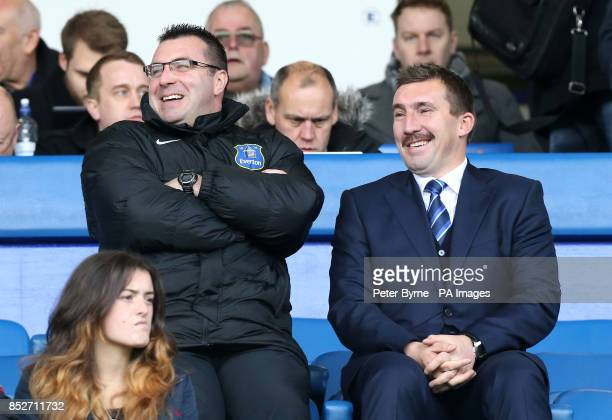 Everton youth coaches David Unsworth and Alan Stubbs
