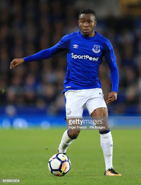 Everton's Ademola Lookman during the UEFA Europa League PlayOff First Leg match at Goodison Park Liverpool PRESS ASSOCIATION Photo Picture date...