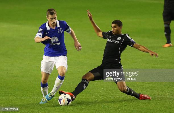 Everton's Conor Grant and Chelsea's Rubens LoftusCheek in action