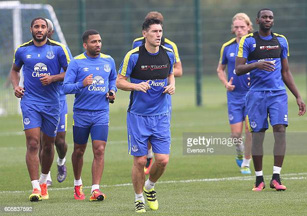Everton's Gareth Barry during training at Finch Farm on September 15 2016 in Halewood England