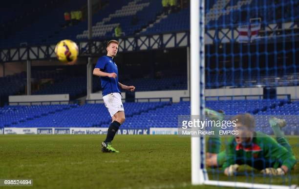 Everton's Harry Charsley looks on after his penalty is saved by Southampton goalkeeper Harry Isted