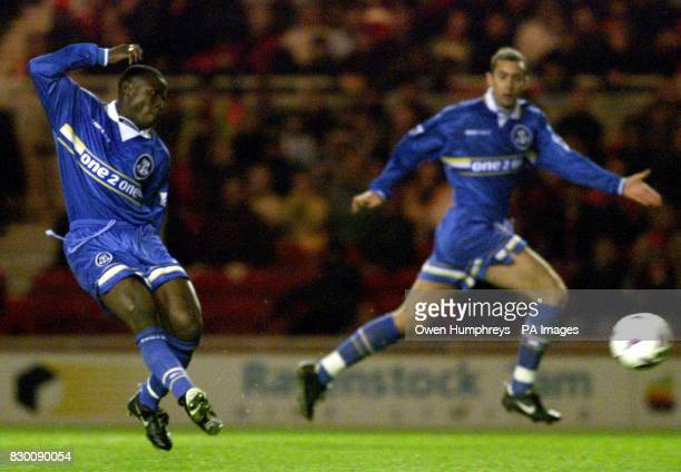 FEATURE Evertons Ibrahima Bakayoko scores Evertons 2nd goal in extra time against Middlesbrough at the Riverside Stadiun tonight Photo by Owen...