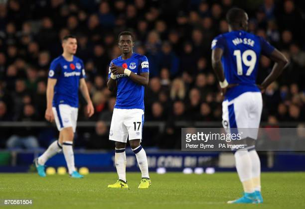 Everton's Idrissa Gueye appears dejected after Watford's Richarlison scores his side's first goal of the game during the Premier League match at...