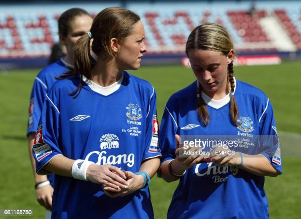 Everton's Jenny Jones and Chantelle Perry leave the field dejected