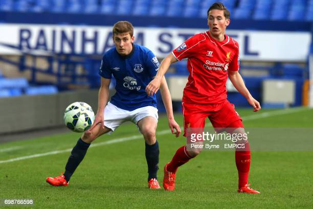 Everton's Joe Williams battles for possesion with Liverpool's Harry Wilson Everton under 21's play Liverpool u21's at Goodison Park