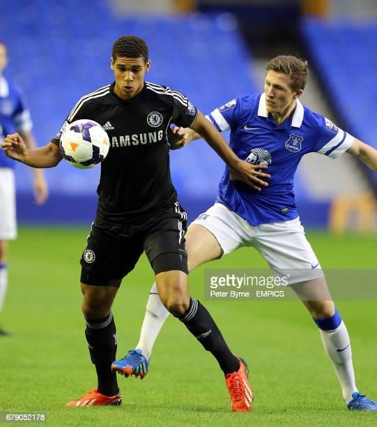 Everton's John Lundstrum and Chelsea's Ruben LoftusCheek in action