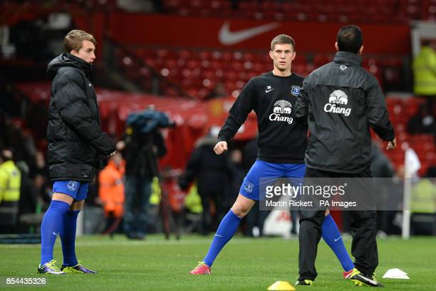 Everton's John Stones and Gerard Deulofeu during the warm up
