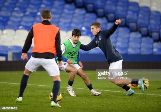Everton's Jonjoe Kenny and Liam Walsh